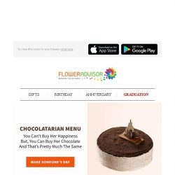 [Floweradvisor] Chocolate, The Love Drug That Will Make Your Love Life Sweeter. Time To Send Some Sweetness!