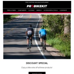 [probikekit] Discount Special: HUGE savings on tools, components, clothing, and more!