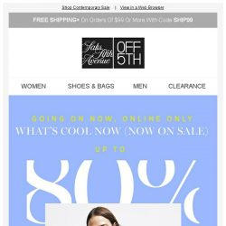 [Saks OFF 5th] Up to 80% OFF Valentino Garavani, Elie Tahari, & more... + We picked styles just for YOU!