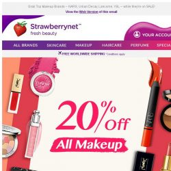 [StrawberryNet] 💋💄 , Extra 20% Off Makeup Madness Expires Tomorrow!