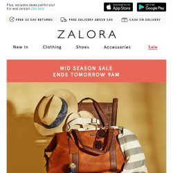 [Zalora] Last call: Up to 80% off + EXTRA 25% off last sizes!