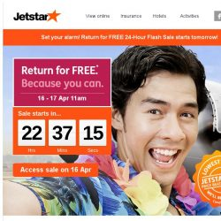 [Jetstar] ✈ Get ready for Return for FREE Sale! Check out some destinations and start planning.