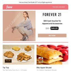 [Fave] Get some retail therapy over the weekend with Forever 21!