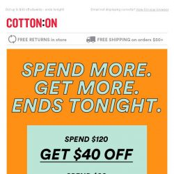 [Cotton On] Last chance to SAVE💰