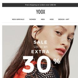 [Yoox] The sale with up to an EXTRA 30% OFF continues: discover the new selections!