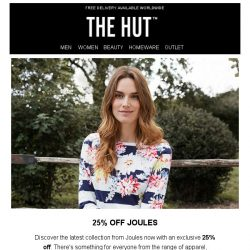 [The Hut] Spring savings | Enjoy 25% off Joules