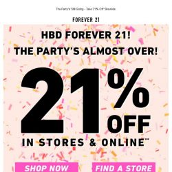 [FOREVER 21] 🍰 21% off ends today! 🍰