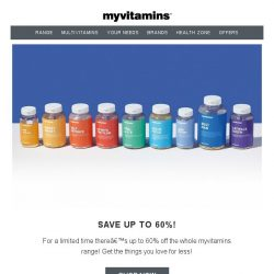 [MyVitamins] Save up to 60% off on myvitamins!