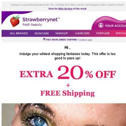 [StrawberryNet] Extra 20% Off + Free Shipping?! Dreams do come TRUE!
