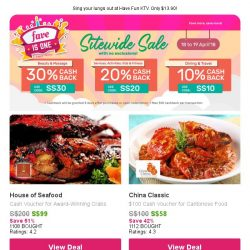 [Fave] Seafood Cash Vouchers: House of Seafood | Ubin First Stop