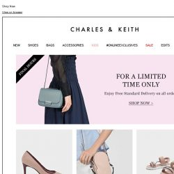 [Charles & Keith] FINAL HOURS| Free Standard Delivery