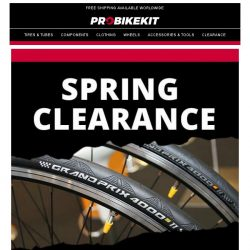 [probikekit] Spring Clearance: Get up to 50% off tyres for a limited time only!