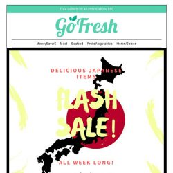 [GoFresh] GoFresh: Delicious Japanese items on Flash Sales all week long!