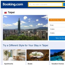 [Booking.com] Deals in Taipei from S$ 36