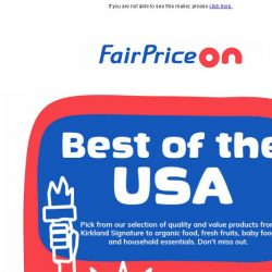 [Fairprice] Best of USA: Kirkland Signature, snacks, household essentials and more..