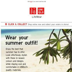 [UNIQLO Singapore] Your favourite summer outfits from 19.90