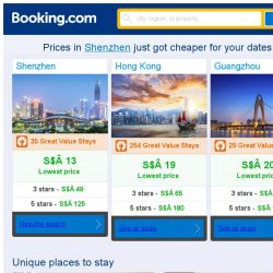 [Booking.com] Prices in Shenzhen are dropping for your dates!