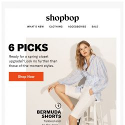 [Shopbop] 6 styles topping our wish lists