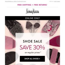 [Neiman Marcus] Shoe sale! Save 30% on select designer styles