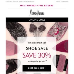 [Neiman Marcus] Ends soon! Save 30% on shoes