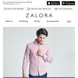 [Zalora] New Arrivals + 15% OFF = 😎 (Ends tomorrow 9AM)
