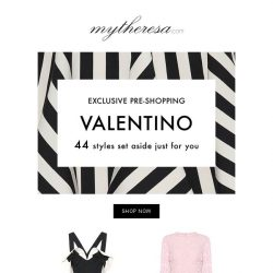 [mytheresa] Exclusive pre-shopping: Valentino Pre-Fall '18 just landed...