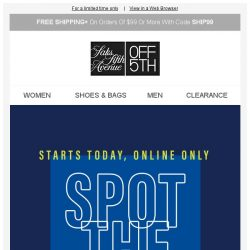 [Saks OFF 5th] ZAC Zac Posen on your mind? + #1 priority: take an EXTRA 20% OFF online!