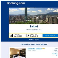 [Booking.com] Prices in Taipei are dropping for your dates!