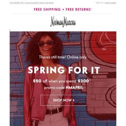 [Neiman Marcus] Get $50 off (or more!) instantly!