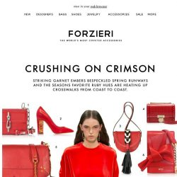 [Forzieri] Red Hot Love: The Spring Style Edit