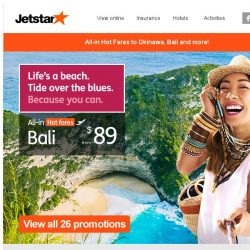 [Jetstar] ✈ Have you booked your June getaway? Bali and other great destinations await you.