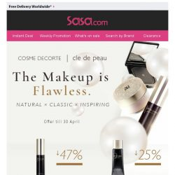 [SaSa ] 【It's flawless】Cosme Decorte & Cle de Peau, Best deals ever!