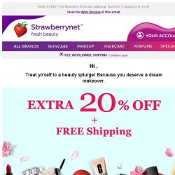 [StrawberryNet] Treat yo'self! Extra 20% Off + Free Shipping