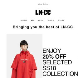 [LN-CC] LN-CC Favorites: 20% off S/S 18 collections