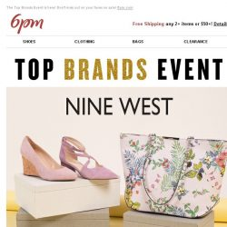 [6pm] Top Brands Event: Nine West, Tommy Hilfiger & More!