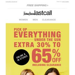 [Last Call] ☀ CONFIRMED ☀ extra 30%–65% off EVERYTHING (yes, really)