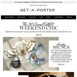 [NET-A-PORTER] What to wear for the weekend