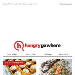 [HungryGoWhere] Exclusive dining deals only for HungryGoWhere diners— 50% off on minimum spend $50, lobster porridge set lunch at $12.80++, and more!