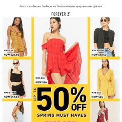 [FOREVER 21] 50% OFF SPRING MUST-HAVES. SORRY CHECKING ACCOUNT! 💸