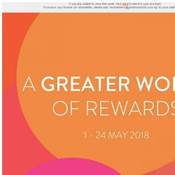 [Great World City]  Great World City presents A Greater World of Rewards (1 - 24 May 2018)