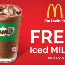 McDonald's: FREE Iced MILO with Any Purchase for NTUC Members!