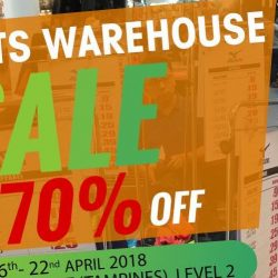 World of Sports: Enjoy Up to 70% OFF at Giant Hypermarket (Tampines) Atrium Sale!