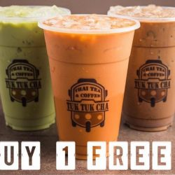Tuk Tuk Cha: Enjoy 1-for-1 Thai Milk Tea or Other Beverage for 1 Day Only!