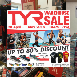TYR: Warehouse Sale with Up to 80% OFF Sports Apparel, Accessories, Bags & More
