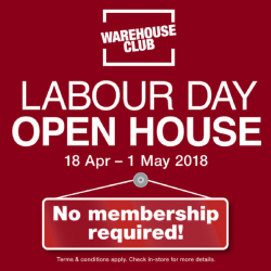NTUC FairPrice: Warehouse Club Labour Day Open House - No Membership Required!