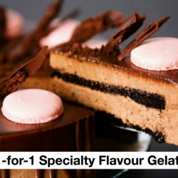 D'zerts Cafe & Patisserie: 1-for-1 Specialty Flavour Gelato & Waffles