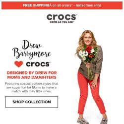 [Crocs Singapore] Introducing the Drew Barrymore 💕 Crocs Chevron Collection