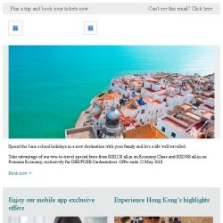 [Cathay Pacific Airways] DBS/POSB Cardholders: Family holiday from SGD228 all-in ✈