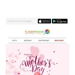 [Floweradvisor] Counting down, 10 days to Mother's Day. Place your order now!
