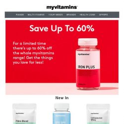 [MyVitamins] Save up to 60% | Shop our new lines!